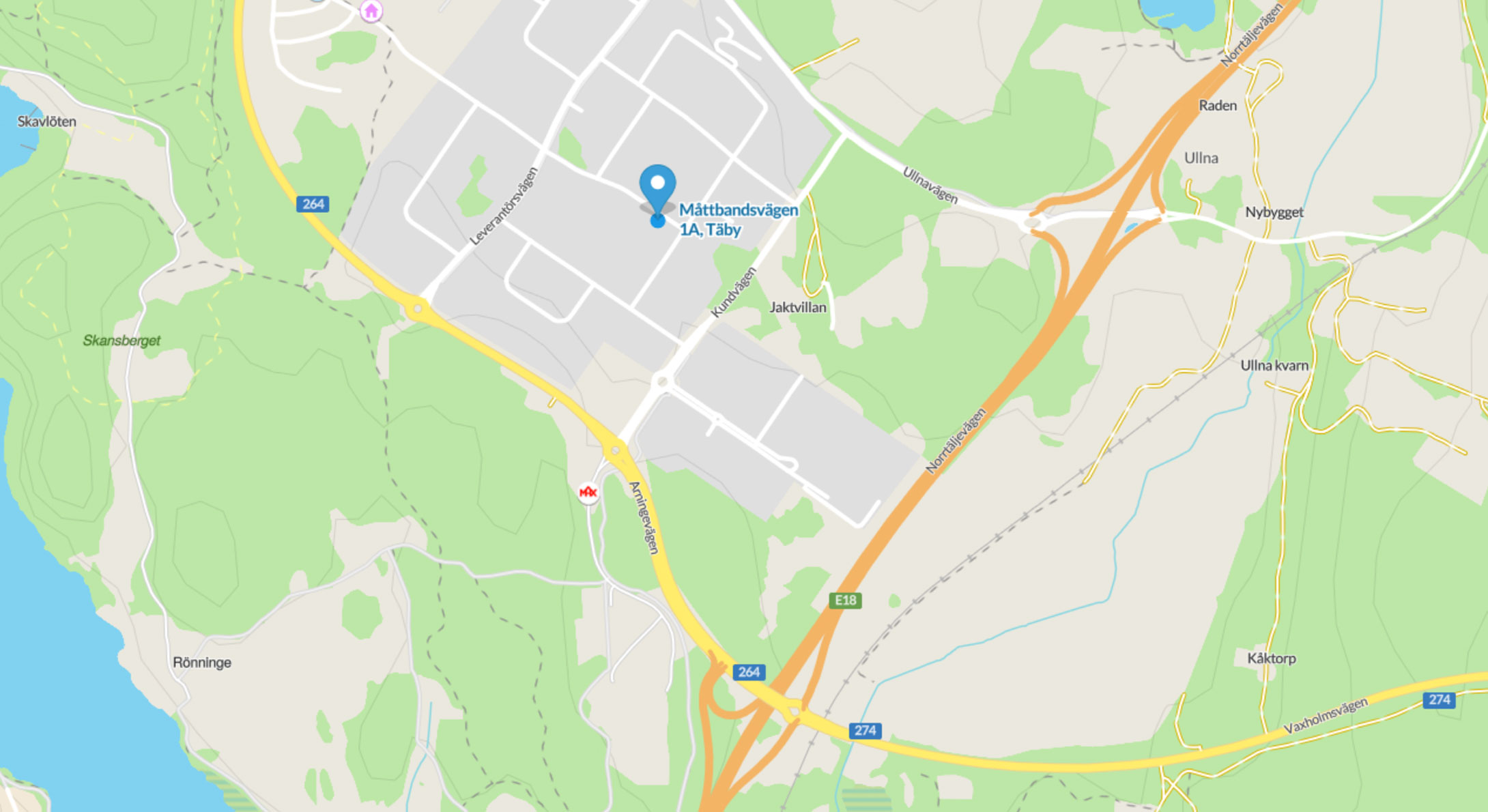 karta Måttbandsvägen 1A